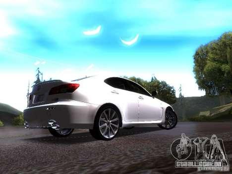Lexus IS F para GTA San Andreas vista direita