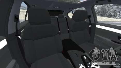 BMW M5 2012 para GTA 4 vista interior