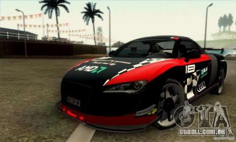Audi R8 Spyder Tunable para GTA San Andreas vista direita