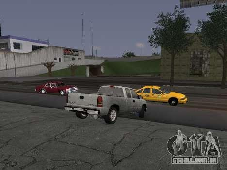 Chevorlet Silverado 2000 para GTA San Andreas vista traseira