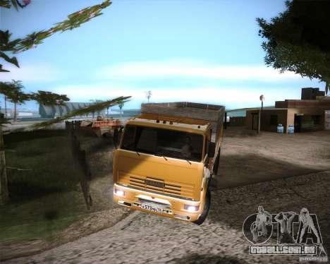 KAMAZ 65117 para GTA San Andreas traseira esquerda vista