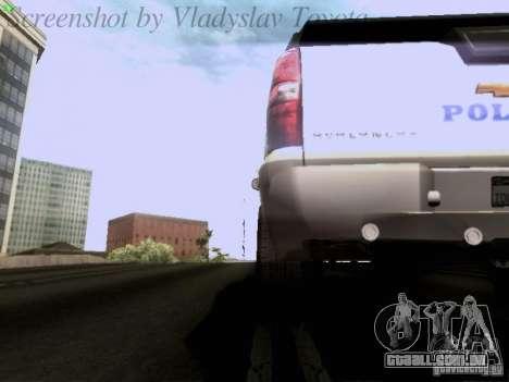 Chevrolet Avalanche 2007 para vista lateral GTA San Andreas