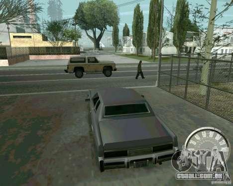 Velocímetro de Mustang clássico para GTA San Andreas segunda tela