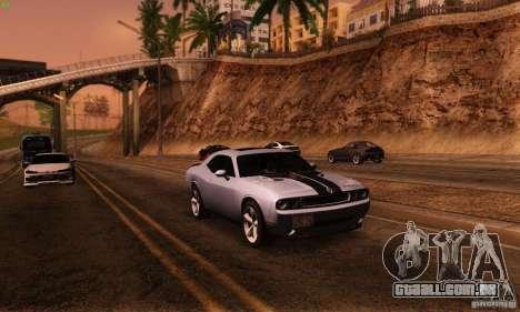 Dodge Challenger SRT-8 para GTA San Andreas vista traseira