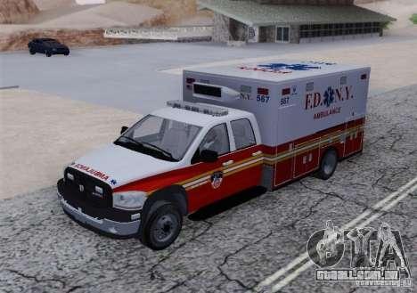 Dodge Ram Ambulance para GTA San Andreas vista traseira