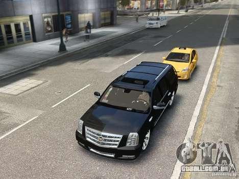 Cadillac Escalade ESV 2012 DUB para GTA 4 vista de volta