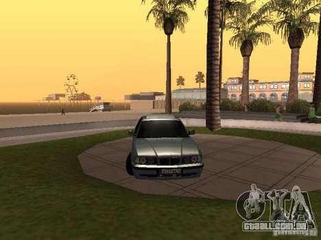 BMW E34 540i V8 para GTA San Andreas vista direita