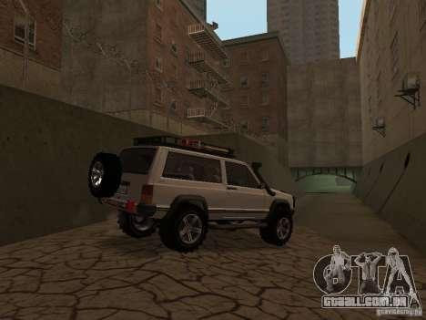 Jeep Cherokee Sport para GTA San Andreas vista traseira