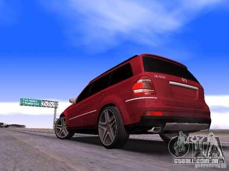 Mercedes-Benz GL500 Brabus para GTA San Andreas traseira esquerda vista