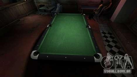 Mesa de bilhar superior na barra de 8 bolas para GTA 4