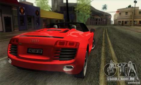 Audi R8 Spyder Tunable para GTA San Andreas esquerda vista