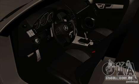 Mercedes-Benz C63 Dub para GTA San Andreas vista traseira