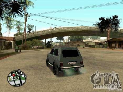 21213 LADA Niva para GTA San Andreas esquerda vista
