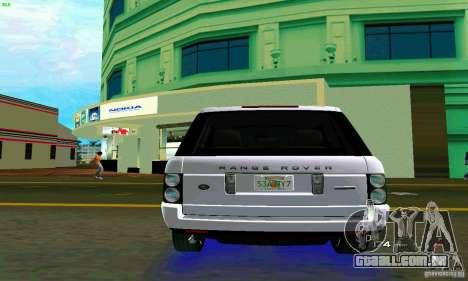 Land Rover Range Rover Supercharged 2008 para GTA Vice City vista direita
