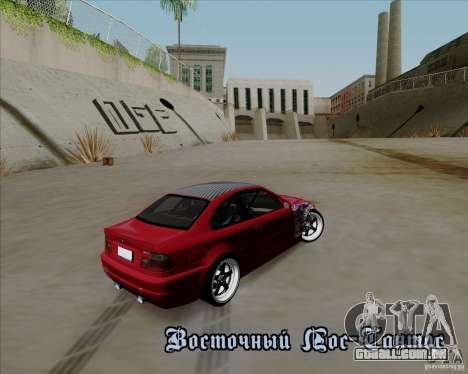 BMW E46 para vista lateral GTA San Andreas