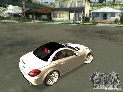 Mercedes Benz SLK 300 para GTA San Andreas traseira esquerda vista