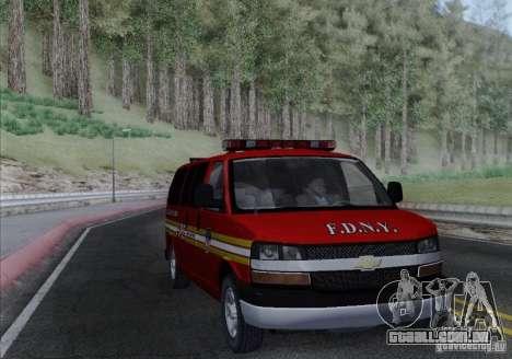 Chevrolet Express Special Operations Command para GTA San Andreas vista traseira