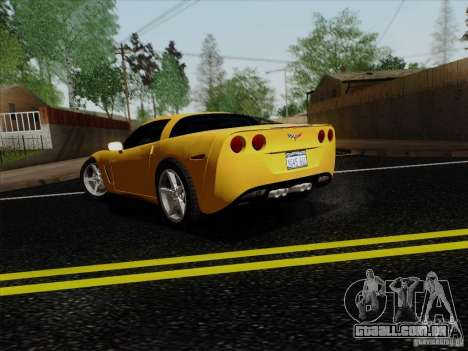Chevrolet Corvette Z51 para GTA San Andreas esquerda vista