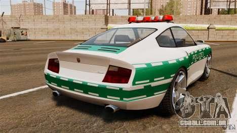 Comet Police para GTA 4 traseira esquerda vista