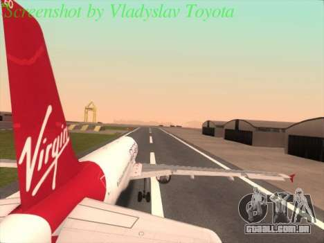 Airbus A320-211 Virgin Atlantic para GTA San Andreas esquerda vista