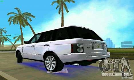 Land Rover Range Rover Supercharged 2008 para GTA Vice City deixou vista