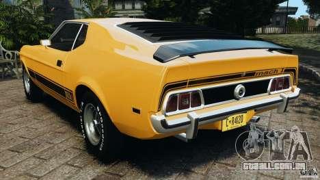 Ford Mustang Mach 1 1973 v2 para GTA 4 traseira esquerda vista