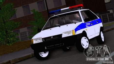 Polícia Vaz 2109 para GTA San Andreas