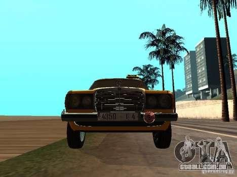 Mercedes-Benz 240D Taxi para GTA San Andreas vista traseira
