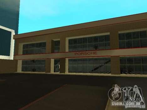 Salão do automóvel de Porsche para GTA San Andreas segunda tela