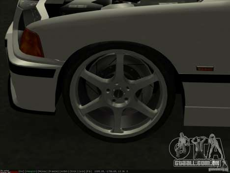 BMW M3 E36 para vista lateral GTA San Andreas