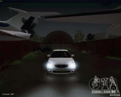 Lada 2170 para vista lateral GTA San Andreas