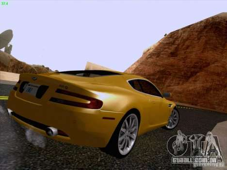 Aston Martin DB9 para GTA San Andreas vista interior