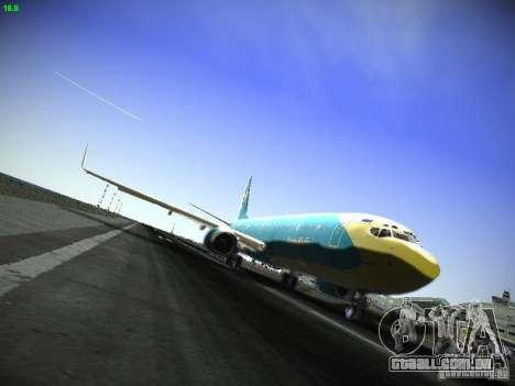Boeing 737-84R AeroSvit Ukrainian Airlines para GTA San Andreas esquerda vista