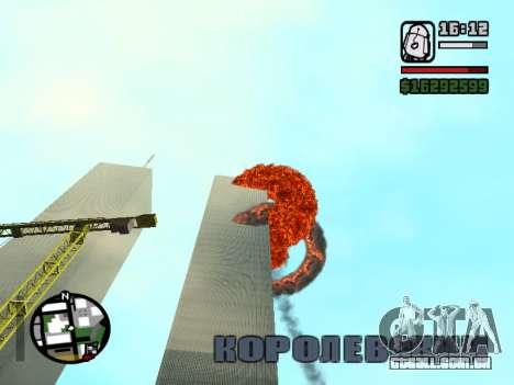 Torres gêmeas BETA para GTA San Andreas segunda tela