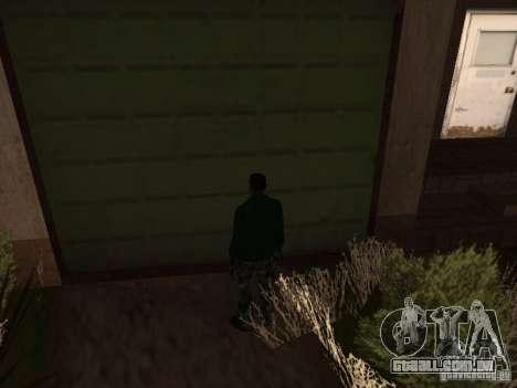 Utilização do armazém sua gangue para GTA San Andreas segunda tela