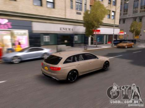 Audi RS4 Avant 2013 para GTA 4 vista interior