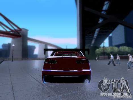 Mitsubishi Lancer Evolution X v2 Make Stance para GTA San Andreas vista interior