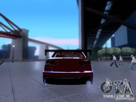 Mitsubishi Lancer Evolution X v2 Make Stance para GTA San Andreas vista interior