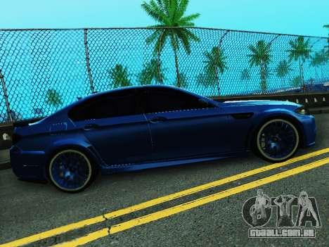 BMW M5 F10 HAMANN para GTA San Andreas vista direita
