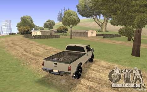 Ford F-250 para GTA San Andreas esquerda vista