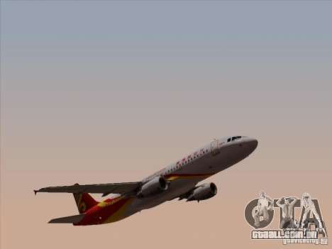 Airbus A320-214 Hong Kong Airlines para GTA San Andreas vista interior