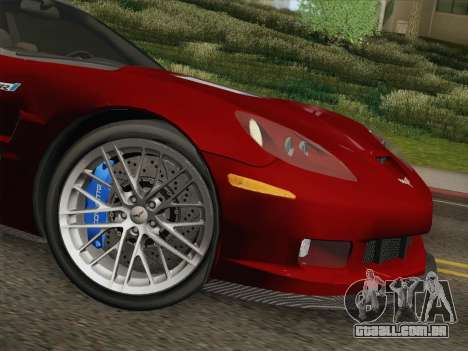 Chevrolet Corvette ZR1 para GTA San Andreas vista inferior