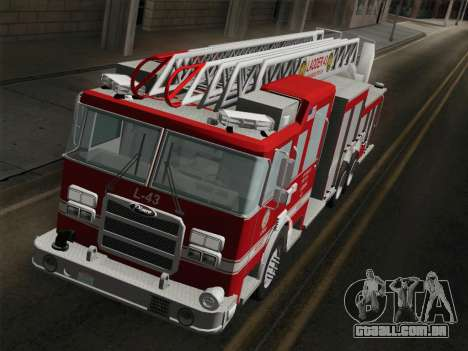 Pierce Arrow LAFD Ladder 43 para GTA San Andreas interior