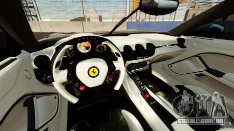 Ferrari F12 Berlinetta DCM para GTA 4 vista de volta