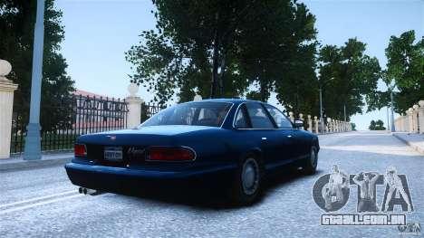 Civilian Taxi - Police - Noose Cruiser para GTA 4 esquerda vista