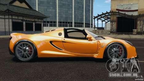 Hennessey Venom GT Spyder para GTA 4 esquerda vista
