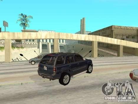 Chevrolet TrailBlazer 2003 para GTA San Andreas vista direita