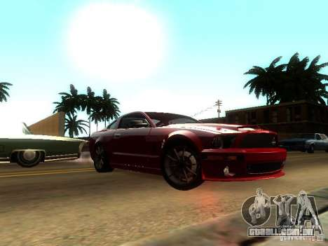 Ford Shelby GT 2008 para GTA San Andreas traseira esquerda vista