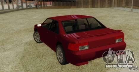 Sultan SRX para GTA San Andreas esquerda vista