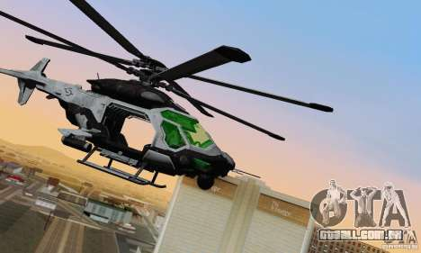 AH-2 Сrysis 50 C.E.L.L. helicóptero para GTA San Andreas esquerda vista